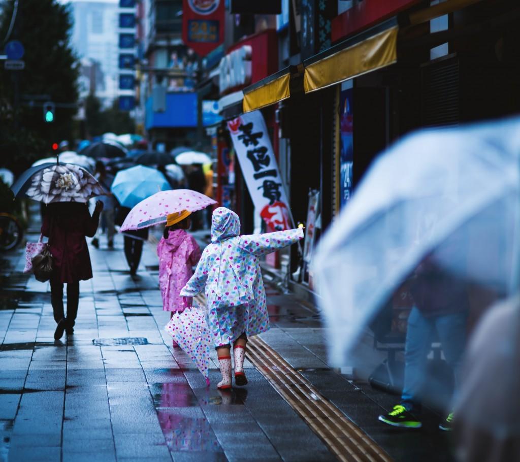 雨も傘もカッパも好き